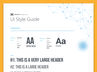 Nextivity Style Guide ui design style guide material design ui cel-fi nextivity palette material guidelines guide grid design