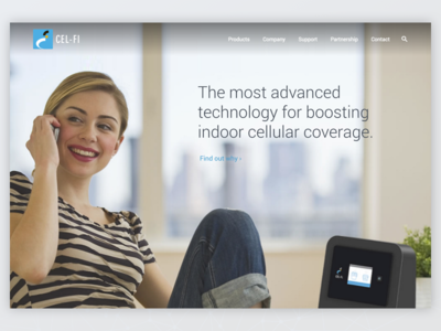 Cel-Fi redesign redesign website coverage boosting smart signal booster cel-fi