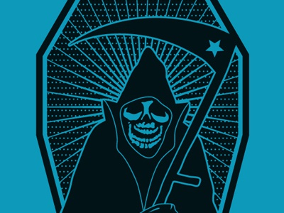 Reaper Blue illustration design reaper death