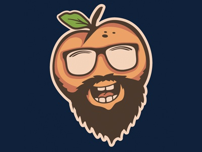 Peach Fuzz art illustration design atlanta georgia beard peach