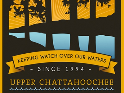 Upper Chattahoochee RiverKeeper Membership T-Shirt 2012 art design illustration georgia