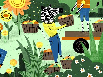 Zebras United animals illustrated digital illustration illustration editorial zebra