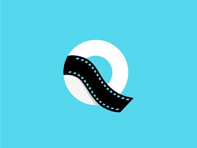 Q + Flim Reel logo design. branding symbol graphicdesign minimalist logo qlogo filmlogo identitydesign lettermark branding design logodesign logo design logo logos brand identity
