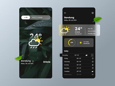 Weather Forecast glassmorphisme flat mobileapp uxdesign uiux uidesign appdesign weatherforecast ux graphic design
