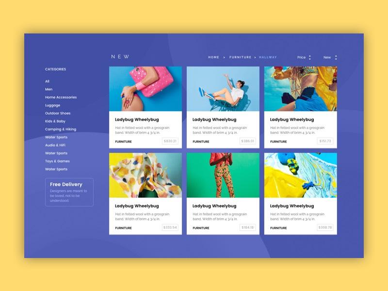 Agurida Web Framework web ux user interface ui ecommerce card apple app