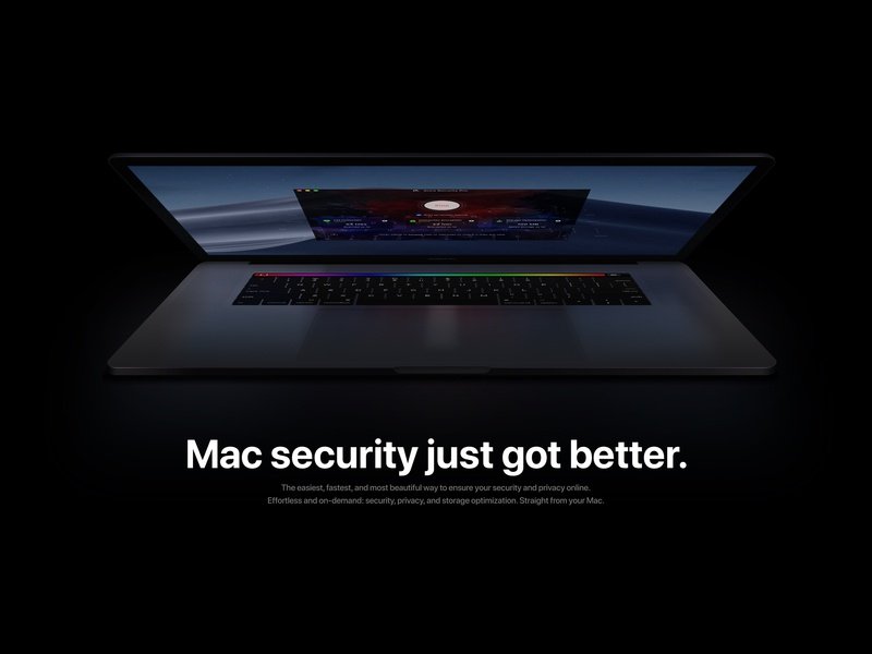 Avira Security Landing Page sketch ios web interface app apple design ux user interface ui mac security avira