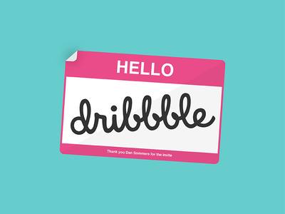 Dribbble First Shot hello dribble first shot vector illustration debut