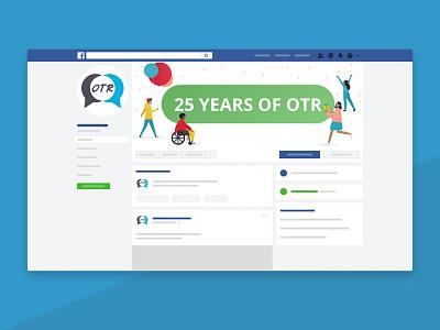 Social media header illustration birthday social media social media banner illustration design vector vector illustration