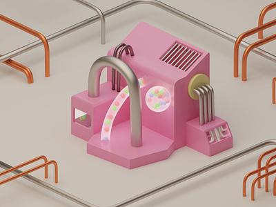 Pink Structure illustration renders rendering render pink design cycles render cyclesrender cycles blendercycles blender 3d blender3dart blender3d blender modeling model 3d modeling 3d art 3d