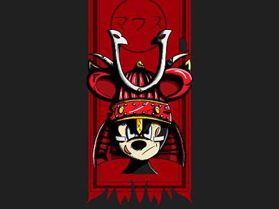 Disney Samouraïs - The rat ㊗️ mickey mickey mouse disney samourai illustration procreate mouse pixar art line art japanese japanese style rought style