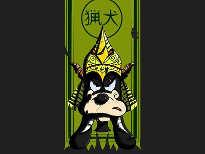 Disney Samouraïs - The dog 🈯️ goofy disney samourai illustration procreate dog pixar art line art japanese japanese style rought style