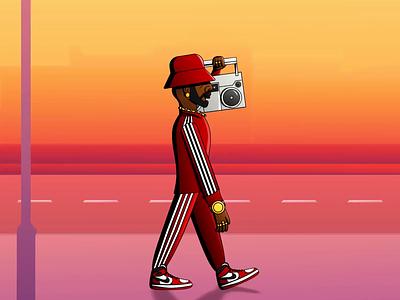 Big Poppa 90s after effects 2pac biggie smalls notorious big big poppa brooklyn amerika street rap hip hop loop animation loop gif illustration art motion graphics motion animation