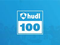 Hudl 100 Feature Badge