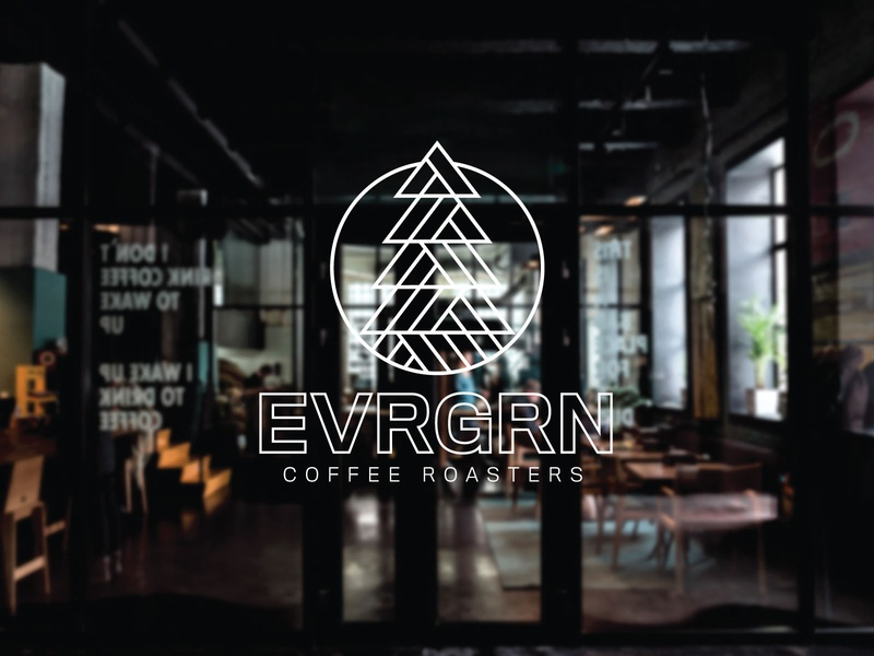 EVRGRN typography vector illustrator illustration logo design logo coffee
