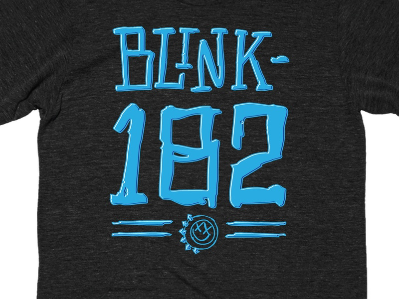 Blink182 Scribbles PR graphicdesign merch tee tshirt happy face blink 182 blink-182 design vector illustration