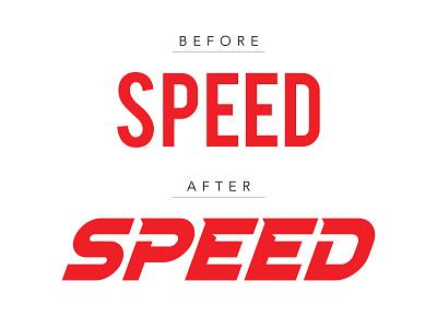 Speed bebas neue font typography adobeillustrator illustrator vector speed