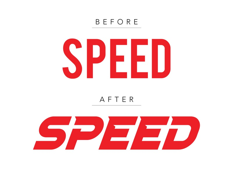 Speed bebas neue font typography adobeillustrator illustrator vector speed