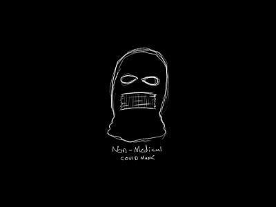 COVID Balaclava illustration virus corona virus covid-19 covid robber duct tape mask ski mask balaclava