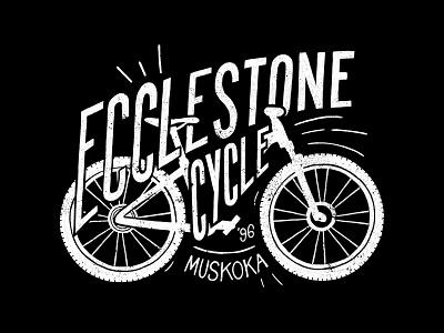Ecclestone Cycle illustration bicycle shop bicycles white black texture mountain bike ipad sketch procreate hand drawn bike bicycle