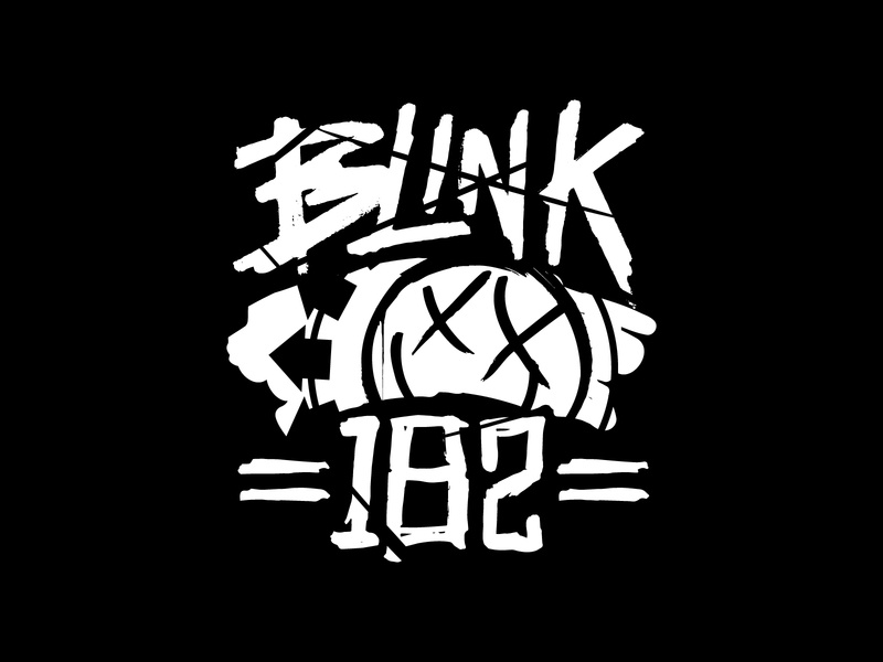 Blink 182 Slasher texture lettered lettering t-shirt merchandise band merch