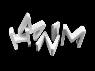 HMNIM 3D Letters 36daysoftype hmnim letters 3d