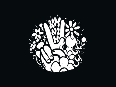Peace hand flowers flower octopus peace