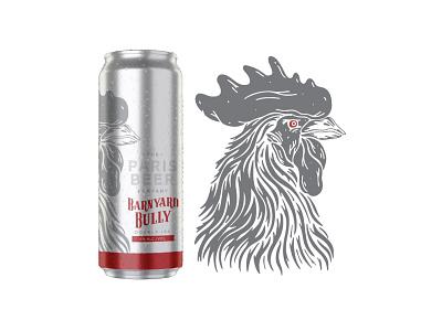 The Paris Beer Co - Barnyard Bully vector procreate illustration paris craft beer beer rooster