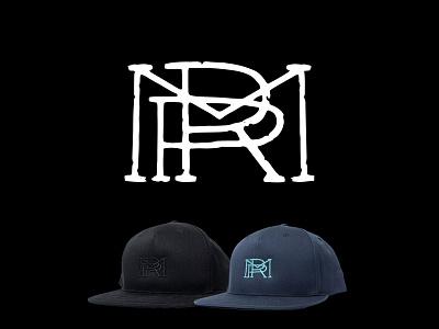 RPM Monogram embroidery hat logo graphic design monogram logo monogram