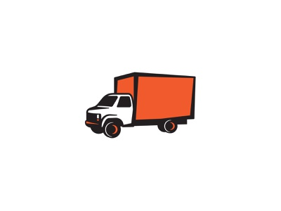 Quick Truck black orange vector illustration truck