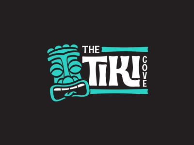 The Tiki Cove branding corporate identity mark symbol logotype logo tiki bar tiki