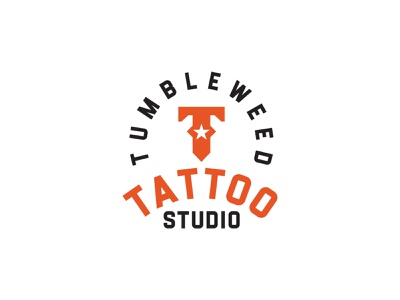 Tumbleweed Tattoo Studio typography design vector branding corporate identity logo design logo symbol icon tumbleweed texas tattoo