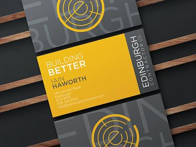Edinburgh Contractor Business Cards business card mockup business cards business card typography branding design vector logo