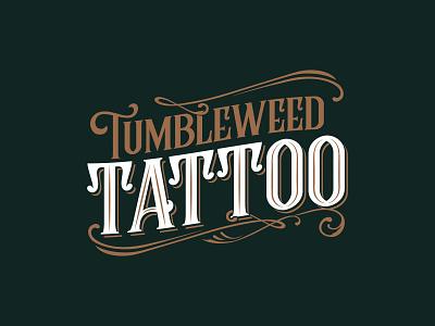 Tumbleweed Tattoo Logo tattoo design vector illustration branding logodesign logotype logo