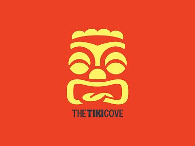 The Tiki Cove icon typography design branding vector illustration logo hawaiian hawaii tiki mask tiki bar tiki