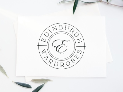 Edinburgh Wardrobes logotype graphic design vector branding logo design logo