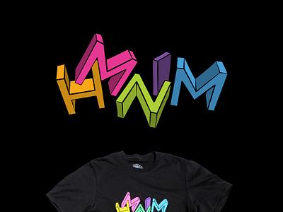 HMNIM Letters vector tshirt hmnim colour illustration letters