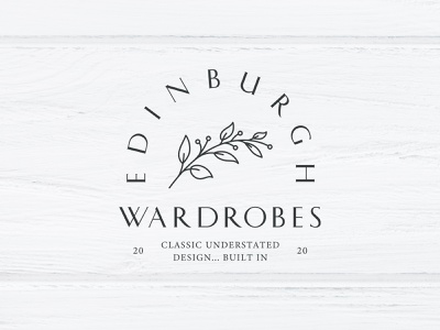 Edinburgh Wardrobes flowers leaf flower branding illustration vector procreate logo