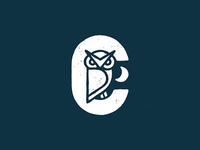 Crusoe Owl branding design logo procreate white illustration moon vector owl logo owl