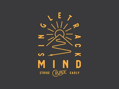 Singletrack Mind bikes apparel logo illustration orange crusoe singletrack snake bike