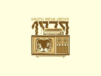 Death From Above vector illustration illustrator stereo record player record tv