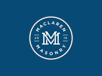 Maclaren Masonry monogram badge emblem corporate identity branding logo