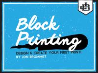 Block Printing Class
