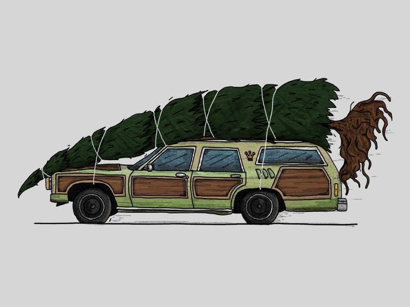 Christmas Vacation Car.Christmas Vacation By Jon Brommet On Dribbble