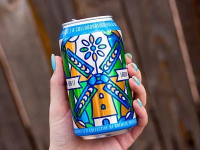 Ora Et Labora windmill label craft beer beer
