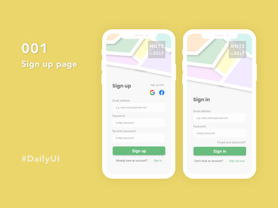 Daily UI Challenge 001: Sign up page adobe xd sign up page user interface ui ui design dailyui daily ui challenge daily ui