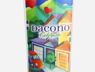 Travel mug illustration for Dacono, Colorado