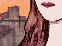 Lips, Hair & City Scape WIP