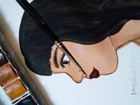 Watercolour Lady Face