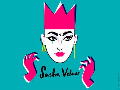 Sasha Velour of RuPaul's Drag Race sasha velour portrait rupauls drag race illustration