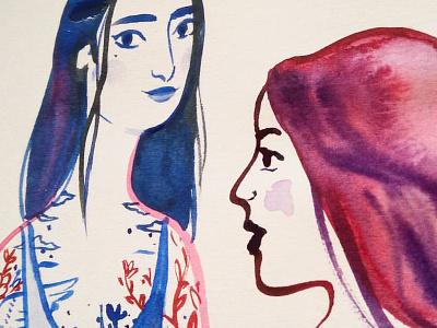 Tattoos & Inky Hair painting illustration ink